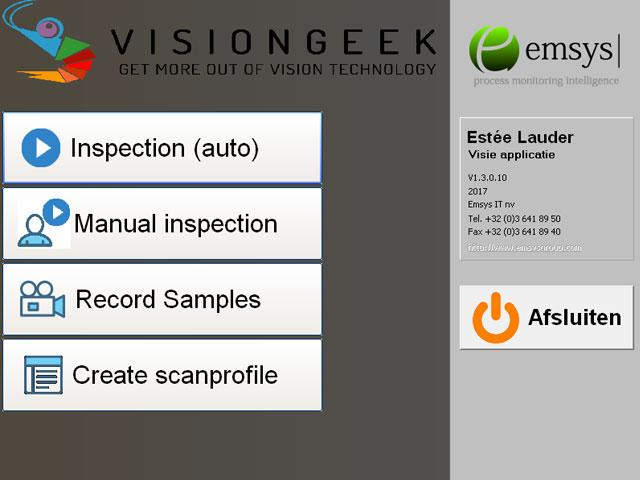 The application steers the-inspection and communicates interesting measurements
